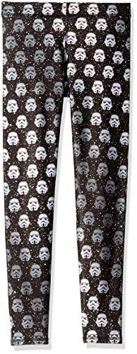 Terez Women's Performance Legging, Star Wars Stormtrooper Black Glitter L ()