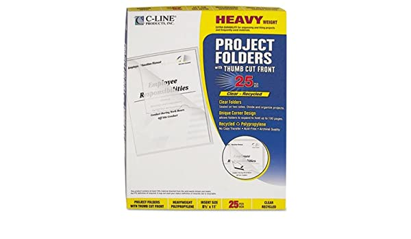 Amazon com : Project Folders, Jacket, Letter, Poly, Clear, 25/Box