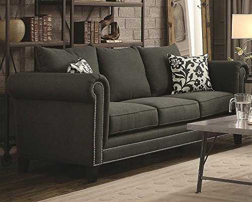 Transitional Rolled Arm Sofa