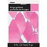 9ft Hot Pink Tissue Paper Fringe Garland