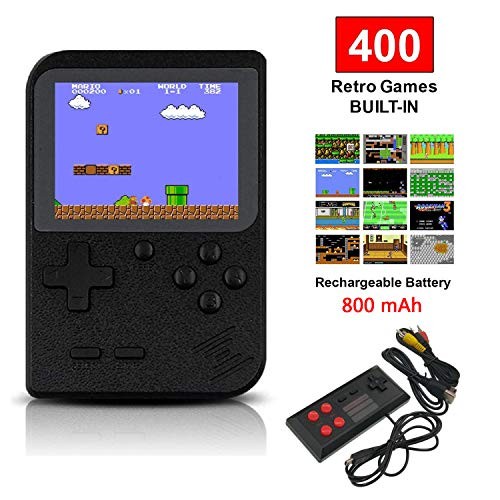 SUNHM Handheld Game Console for Kids/Adults,Retro Mini Game Player with 400 Classical FC Games,Support for Connecting TV and Two Players