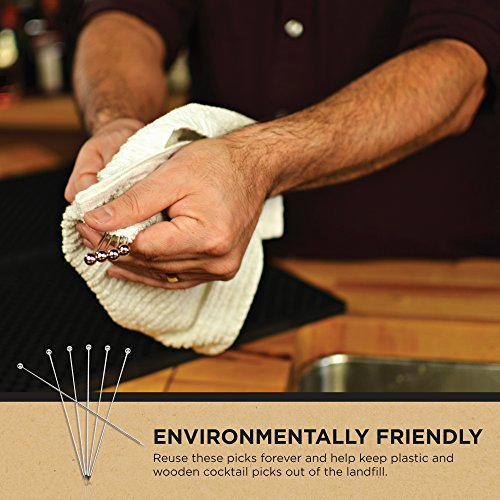 Stainless Steel Cocktail Picks - Extra long 8'' (Set of 12) by Top Shelf Bar Supply (Image #8)