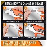 HORUSDY Box Cutter Utility Knife, 10PC SK5 Sharp
