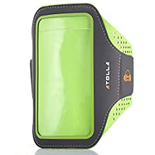 iPhone 6 Armband, Atolla Sport Armband for iPhone 6 6S Galaxy S6 S6 Edge S5 (Green), Fashion and Ultra-thin Design Arm band for workouts Running cycling or any fitness activity outside and gym