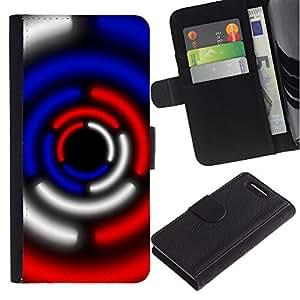 For Sony Xperia Z1 Compact / Z1 Mini / D5503,S-type® Sci-Fi Lights Blue Red Black White - Dibujo PU billetera de cuero Funda Case Caso de la piel de la bolsa protectora