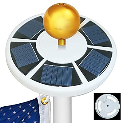 Moonlight Solar Flag Pole Light 42 LED