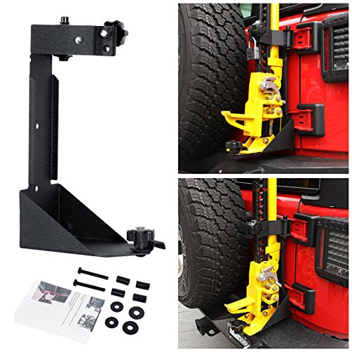 Floor Mount Manual (Partol High Lift Jack Mount Rear Farm Jack Off-Road Mounting Bracket Kit for 2007-2017 Jeep Wrangler JK)