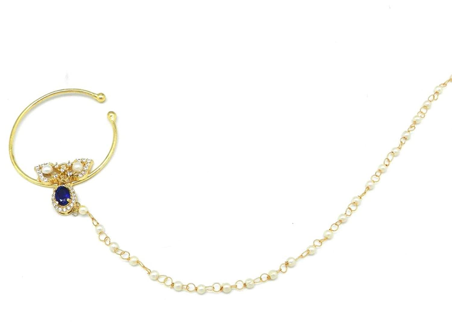 Buy Rajasthani Nath Nose Ring Decorated with Amercian Diamond ...