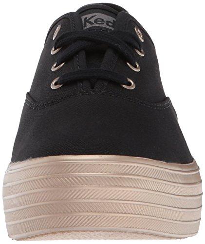 Keds Donne Tripla Moda Shimmer Sneaker Nero / Champagne