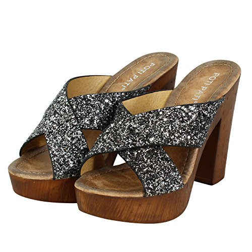 SnobUK - Zapatos con tacón mujer negro