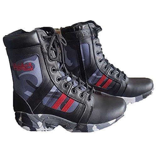 Stivali anfibi desert scarpe camo softair militari tattici comodi gomma