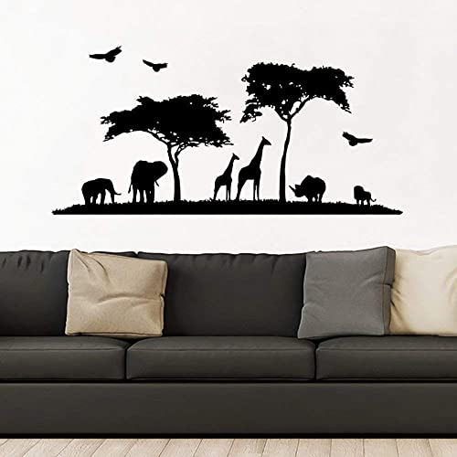 Amazon Com Safari Wall Decal Vinyl Stickers Decals Home Decor Animal Wall Vinyl Decal African Safari Nursery Decor Jungle Bedroom Safari Africa Zx122 Handmade