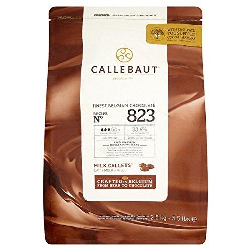 Callebaut Finest Chocolate Belga Callets de leche de 2,5 kg (paquete de 2