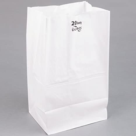 Amazon.com: Duro 20 kg. Shorty blanco bolsa de papel 500 ...