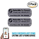 Global Recovery Decals - Lifetime Lost & Found Service for Your Electronics (2 Pack)
