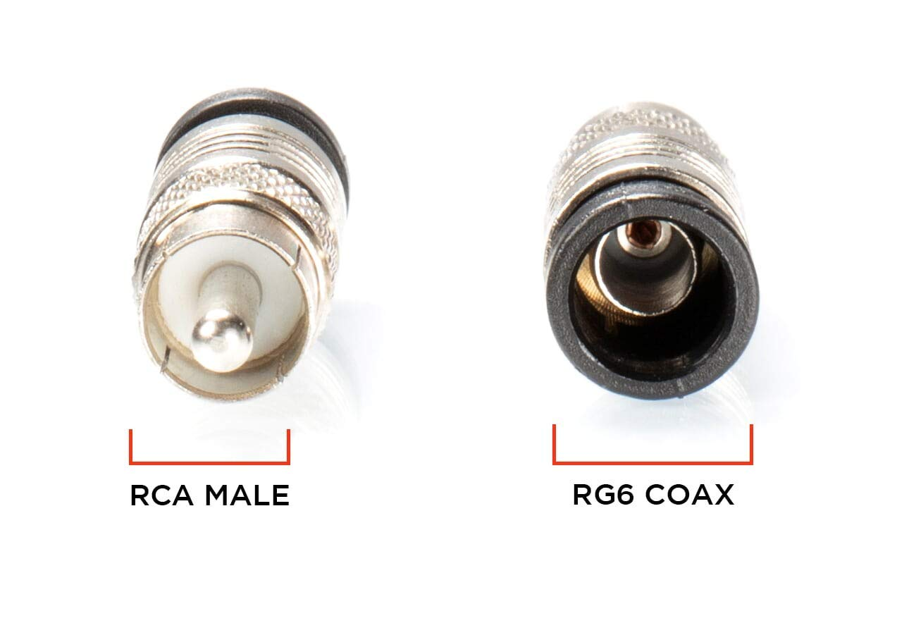 Connector THE CIMPLE CO Proudly Made in The USA with Weather Seal O Ring and Water Tight Grip 50 Pack Coaxial Cable Compression Fitting for RG59 Coax Cable