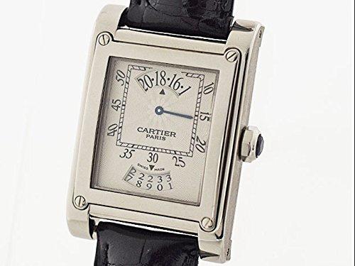 (カルティエ) Cartier タンク アビス LM W1534551 750 K18 WG ホワイトゴールド レザーベルト 手巻き [並行輸入品] B06XSBJMB6