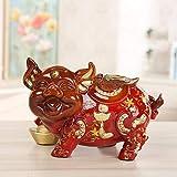 MAFYU Resin Retro red Green Pig Piggy Bank Ornaments