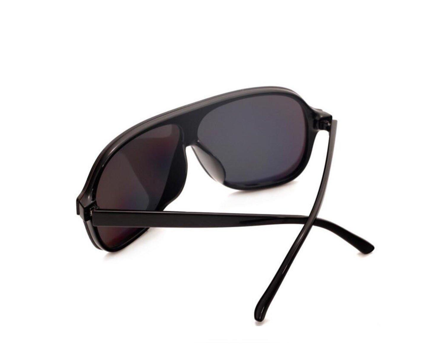 GSHGA Polarisierte Sonnenbrille Art Und Weise Bunte Winde Gläser Mens-Frauen-Sonnenbrille,Brightblackframeredreflective