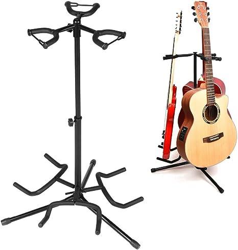 Soporte universal para guitarra en trípode plegable negro para ...
