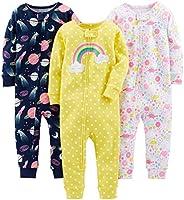 Simple Joys by Carter's baby-girls 3-Pack Snug Fit Footless Cotton Pajamas Pajama