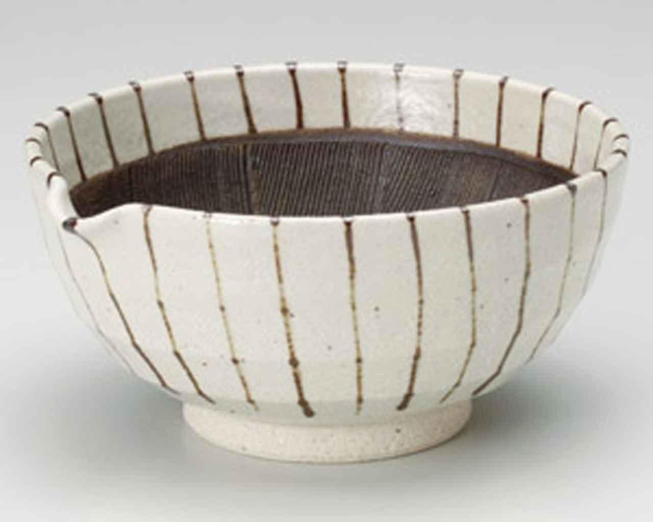Sabi Tokusa 16cm Mortar Beige Ceramic Made in Japan