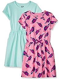ee3e9788c02 Spotted Zebra Girls  2-Pack Knit Short-Sleeve Cinch Waist Dresses