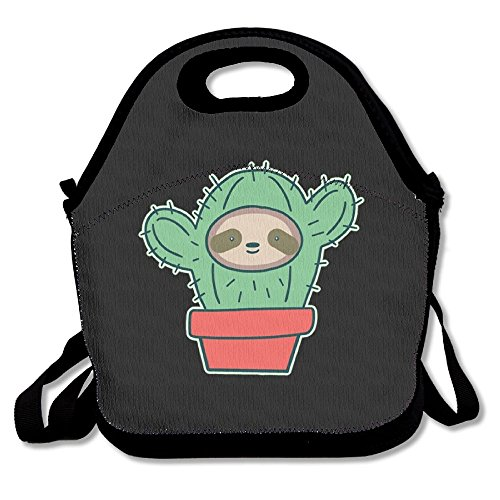 HYEECR Sloth Cactus Portable Lunch Tote Bags, Takeaway Lunch Box, Outdoor Travel Fashionable Handbag For Men Women Kids (Deadshot Mask For Sale)