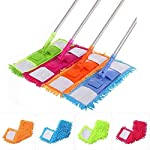Maharsh Wet and Dry Cleaning Flat Microfiber Floor Cleaning Mop with Telescopic Long Handle Dry Mop, Standard…