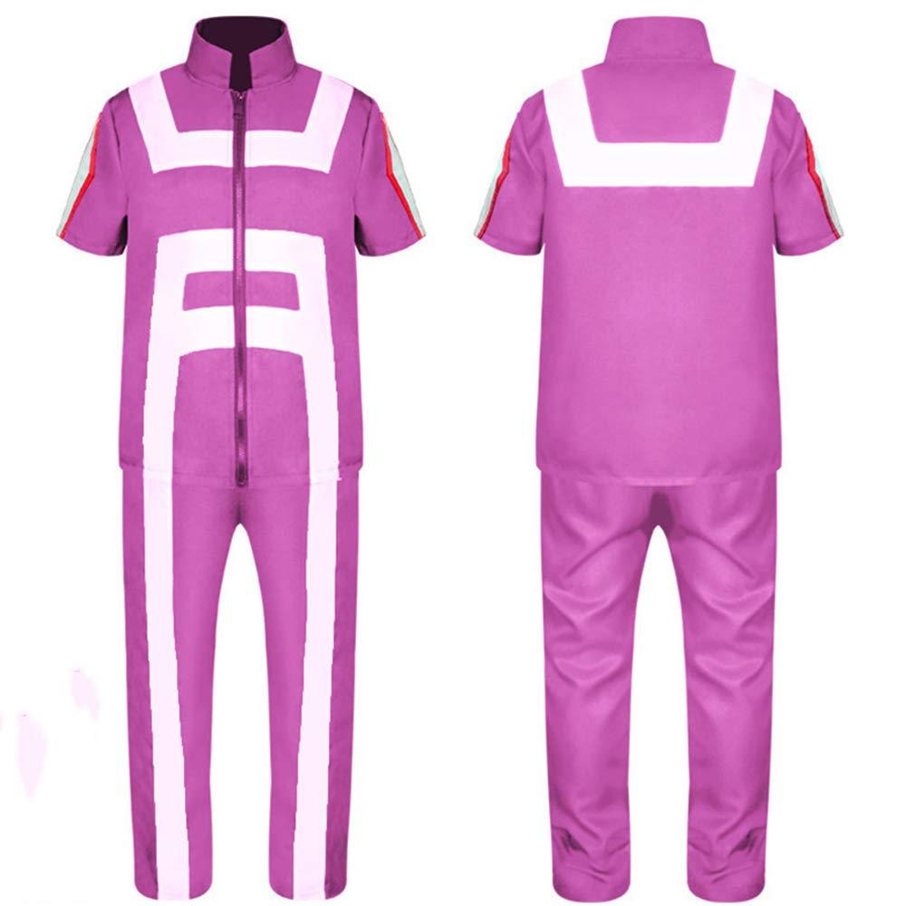 DuHLi My Hero Academia Polo T-Shirt Hosen Schwarz Cosplay Kost/üme Sport College Gymnastik Anzug Halloween Kost/üme f/ür M/änner Erwachsene Frauen