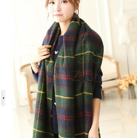 S Cloth Autumn And Winter Female British Institute Of Wind Decorative Oversized Plaid Scarf