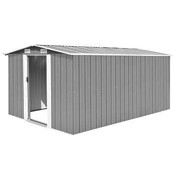 tidyard Caseta de Jardín Exterior con 4 Ventilación para Almacenamiento de Herramientas de A Prueba de Polvo y Resistente a la Intemperie de Acero ...