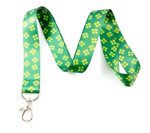 Irish Themed Lanyard Key Chain Id Badge Holder ()
