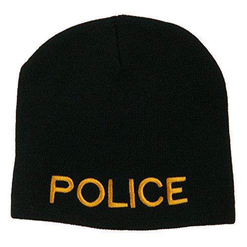 e4Hats.com Military Police Embroidered Short Beanie - Black OSFM (E4hats Lightweight Beanie)