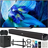 Sony XBR-55A8G 55 inch BRAVIA OLED 4K HDR Smart TV 2019 Model Bundle with Deco Gear 60W Soundbar, Wall Mount Kit, 2.4GHz Backlit Keyboard, 6-Outlet Surge Adapter and Screen Cleaner for LED TVs