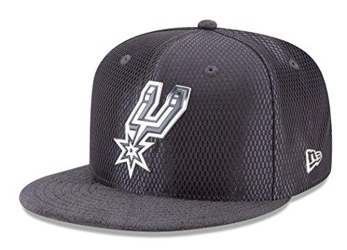 New Era San Antonio Spurs 9FIFTY NBA 2017 On-Court Graphite Snapback Hat