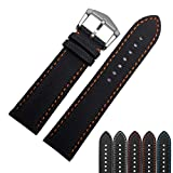 Choco&Man US Fiber Nnylon Watch Band Fit for Men's Blancpain/Citizen/Omega Watches