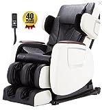 ADAKO EQUINOX Electric Full Body Shiatsu Six-Rollers Massage Chair (Black-White)