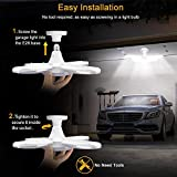 (4 Pack) LED Garage Lights, 60W Adjustable