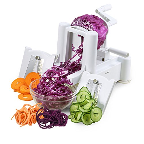 Spiral Slicer Cutter, ABS Vegetable and Fruit Turning Chopper, Onion Dicer for Zucchini Pasta Spaghetti and Vegetarian Cooking