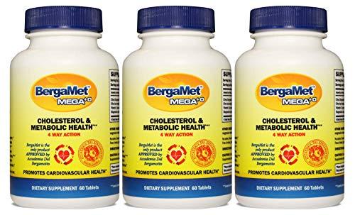(BergaMet MEGA +O by BergaMet 180 tablets + FREE Sports Bag - Natural Citrus Bergamot 600mg (40% BPF) - THE WORLD'S MOST POWERFUL & PROVEN BERGAMOT SUPPLEMENTS)