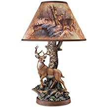 Greg Alexander Whitetail Majesty Accent Lamp With Whitetail Deer by The Bradford Exchange