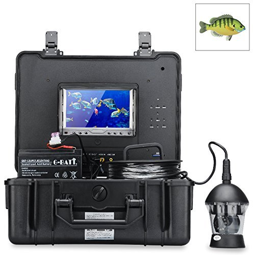 Underwater Fishing Camera - 360 Degrees, 1/3 Inch Sony CCD, 600TVL, Remote Control, 7 Inch Color Monitor by TAK