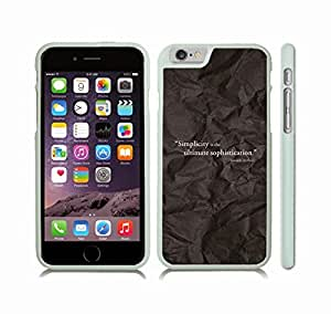 "iStar Cases? iPhone 6 Plus Case with ""Real friends don't have to..."" Inspirational, White Font, Jumping on Beach , Snap-on Cover, Hard Carrying Case (White)"