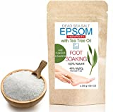 Tea Tree Epsom & Dead Sea Salt Antifungal Antibacterial Foot Soak 250 g  Resealable stand-up pouch Relaxing Foot Bath , SPA and At-Home Care Soaking Pleasure