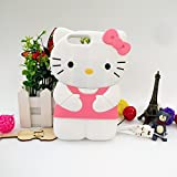 Jinxtech Pink Kitty Shaped Adorable 3D Cute Cartoon Character Soft Rubber Silicone Case with a Strap for iPhone 7 Plus,iPhone 8 Plus (5.5 Inch)(Pink Kitty)