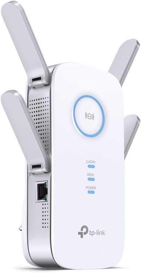 TP-Link RE650 AC2600 - Repetidor de red Wifi extensor amplificador de cobertura(Puerto Ethernet Gigabit, doble banda: 800Mbps, 2.4GHz + 1733Mbps, 5GHz, 4 antenas): Tp-Link: Amazon.es: Informática