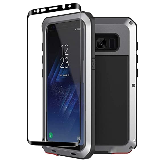 online retailer 8fa7e 42c97 Galaxy S8 Plus case,Tomplus Extreme Hybrid Armor Alloy Aluminum Metal  Bumper Soft Rubber Military Heavy Duty Shockproof Hard Case For Samsung  Galaxy ...