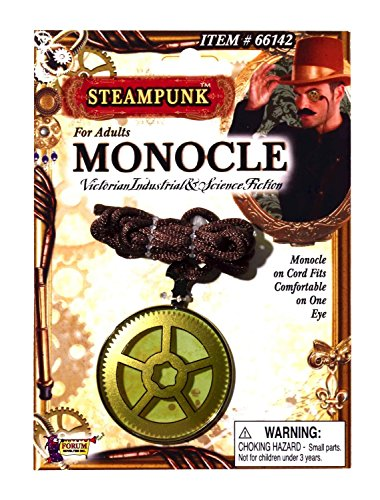 Adult Steampunk Victorian Industrial Costume Monocle - Eyewear Fiction