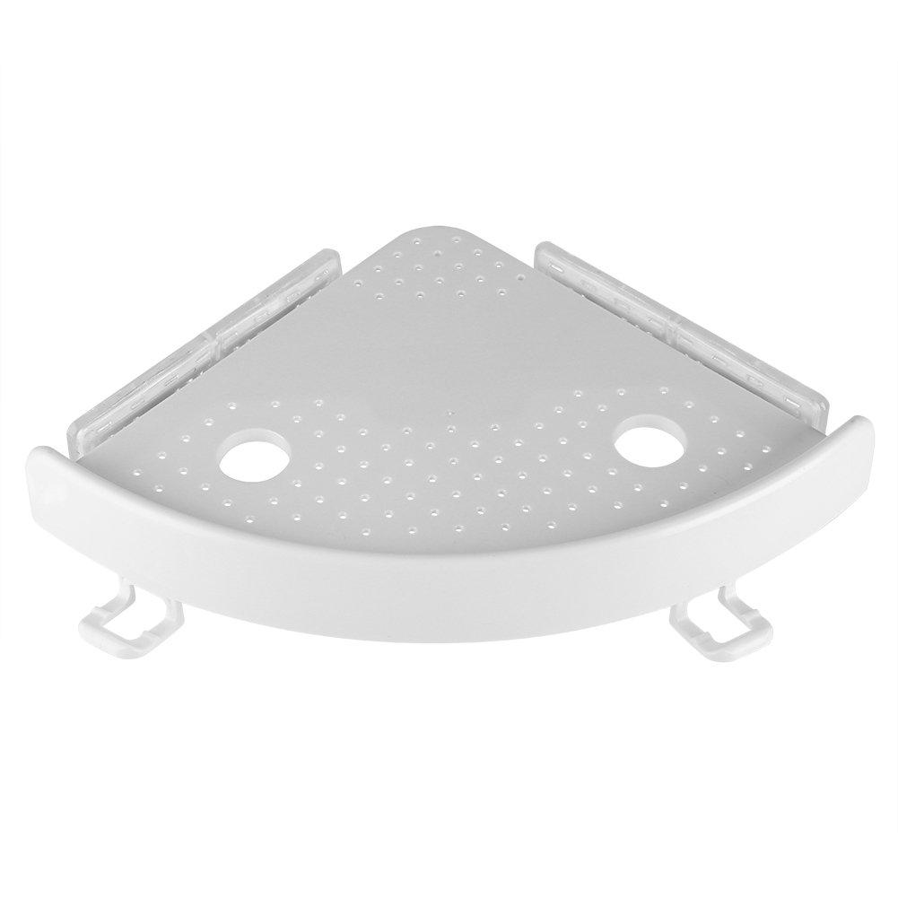 Mensola angolare del bagno Mensola multifunzionale del PVC del supporto del gancio del supporto della mensola dell'angolo dell'ABS del bagno GLOGLOW